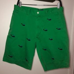 Polo Ralph Lauren Green Whale Encrusted Shorts 32